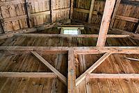 Interior of a barn.