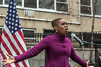 NEW YORK, NY - JANUARY 21: First Lady of New York City Chirlane Irene McCray speaks onstage at the  Women's March in New York City on January 21, 2017. Protesters in the United States and around the world are joining marches Saturday to raise awareness of women's rights and other civil rights they fear could be under threat under Donald Trump's presidency.Photo by VIEWpress/Maite H. Mateo.