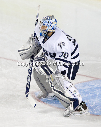 Matt DiGirolamo (UNH - 30) - The Miami University Redhawks and University of New Hampshire Wildcats played to a 5-5 tie on Saturday, October 17, 2009, at the Whittemore Center in Durham, New Hampshire.