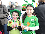 Kate Gorman and Kina Jackson pictured at the Dunleer St. Patrick's day parade. Photo: Colin Bell/pressphotos.ie