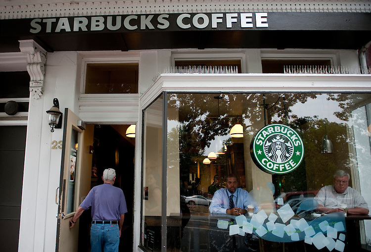 UNITED STATES - AUGUST 3: Starbucks on Capitol Hill on Pennsylvania Ave. SE. (Photo By Bill Clark/Roll Call)