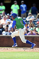 Lexington Legends second baseman Ramon Torres (2) at bat during a game against the Hagerstown Suns on May 19, 2014 at Whitaker Bank Ballpark in Lexington, Kentucky.  Lexington defeated Hagerstown 10-8.  (Mike Janes/Four Seam Images)