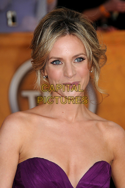 JESSALYN GILSIG.16th Annual Screen Actors Guild Awards - Arrivals held at The Shrine Auditorium, Los Angeles, California, USA..January 23rd, 2009.SAG SAGs headshot portrait purple pink strapless cleavage .CAP/ADM/BP.©Byron Purvis/Admedia/Capital Pictures