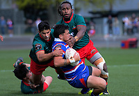 Action from the Heartland Championship rugby match between Horowhenua Kapiti and Wairarapa Bush at Levin Domain in Levin, New Zealand on Saturday, 22 September 2018. Photo: Dave Lintott / lintottphoto.co.nz