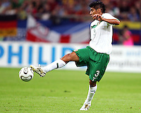 Carlos Salcido (3) of Mexico traps the ball. Portugal defeated Mexico 2-1 in their FIFA World Cup Group D match at FIFA World Cup Stadium, Gelsenkirchen, Germany, June 21, 2006.