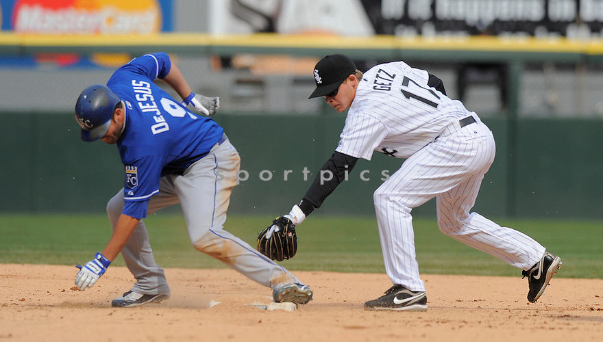 CHRIS GETZ, of the Chicago White Sox, in action  during the White Sox game against the Kansas City Royals  on April 8, 2009 in Chicago, IL.  The Royals beat  the White Sox  2-0  in Chicago,