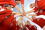 MADISON, WI - APRIL 21: The Wisconsin Badgers women's softball team huddles prior to the game against the Northwestern Wildcats at the Goodman Softball Complex on April 21, 2007 in Madison, Wisconsin. (Photo by David Stluka)