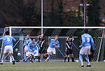 06 December 2008: North Carolina's Kirk Urso (18) reacts after scoring the game's only goal. The University of North Carolina Tar Heels defeated the Northwestern University Wildcats 1-0 at Fetzer Field in Chapel Hill, North Carolina in a NCAA Division I Men's Soccer tournament quarterfinal game.