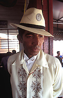 Portrait of Tlacotalpan's own tourist guide who always wears a guayabera shirt. The colonial port of Tlacotalpan is one of the best preserved small cities in mexico, it has been declared a World Heritage town.  It is also the epicenter of the Cuban-Spanish influenced  Son Jarocho music.