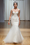 Model walks runway in a Tilly gown from the Beloved Bridal collection at the Casablanca Bridal 20th anniversary celebration runway show, on October 8, 2017; during New York Bridal Fashion Week Spring 2018.