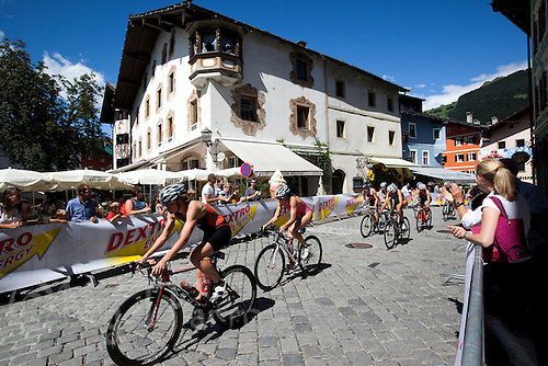 15 AUG 2010 - KITZBUEHEL, AUT - Competitors cycle through the picturesque town of Kitzbuehel during the womens ITU World Championship Series triathlon (PHOTO (C) NIGEL FARROW)