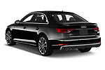 Car pictures of rear three quarter view of 2019 Audi S4 Premium-Plus 4 Door Sedan Angular Rear