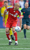 02 May 2009: Toronto FC forward Danny Dichio #9 in action at BMO Field in a game between the Columbus Crew and Toronto FC. .The game ended in a 1-1 draw...