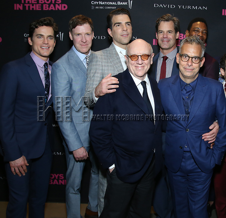 Matt Bomer, Brian Hutchison, Zachary Quinto, Mart Crowley, Joe Mantello, Tuc Watkins, Michael Benjamin Washington attends the 'The Boys In The Band' 50th Anniversary Celebration at The Second Floor NYC on May 30, 2018 in New York City.