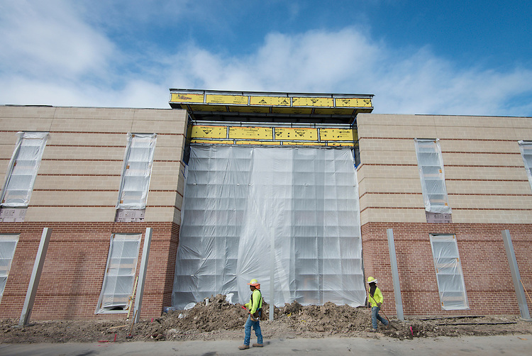 Construction at Grady Middle School, October 20, 2015.