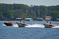 "2 Donzi's and Ken Warby ""Fury"" (racing flatbottom ski boat)"