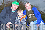 VIEW: John and Jack Hickey and Gerry Leonard who get the best view to watch the Abbeydorney St Patrick's Day Parade on Monday.
