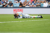 Millwall's Frank Fielding picked up an injury  and needed to be replaced<br /> <br /> Photographer Rob Newell/CameraSport<br /> <br /> The EFL Sky Bet Championship - Millwall v Preston North End - Saturday 3rd August 2019 - The Den - London<br /> <br /> World Copyright © 2019 CameraSport. All rights reserved. 43 Linden Ave. Countesthorpe. Leicester. England. LE8 5PG - Tel: +44 (0) 116 277 4147 - admin@camerasport.com - www.camerasport.com