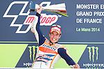 Le Mans GP de France<br /> Monster Energy Grand Prix de France during the world championship 2014.<br /> 18-05-2014<br /> MotoGP Race<br /> marc marquez<br /> PHOTOCALL3000/RM