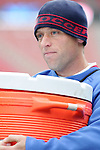 18 February 2006,  Jimmy Conrad of the MLS Kansas City Wizards pulls water body duties after a national team pratice.  The USA Mens National soccer team held a practice session in freezing weather at Pizza Hut Park, Frisco, Texas in preparation for their international friendly match against Guatemala the next day..---LIVE IMAGE---