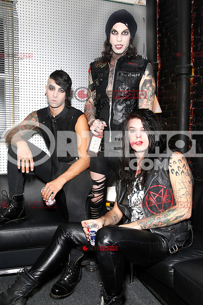 PHILADELPHIA, PA - OCTOBER 12 :  EXCLUSIVE PORTRAIT of Vampires Everywhere taken in the dressing room before the show at the TLA in Philadelphia, Pa on October 12, 2012  ***EXCLUSIVE***  © Star Shooter / MediaPunch Inc /NortePhotoAgency