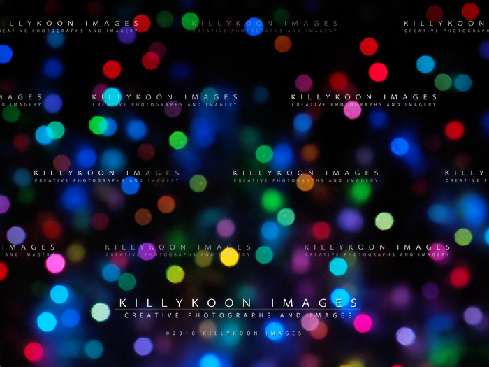 Holiday city lights bokeh or blur abstract  Color full of