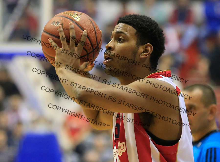 Kosarka ABA League season 2015-2016<br /> Crvena Zvezda v Partizan<br /> Ryan Thompson<br /> Beograd, 03.11.2015.<br /> foto: Srdjan Stevanovic/Starsportphoto&copy;