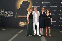 Anne DECIS, Jérôme BERTIN, Marie REACHE, Stephanie PAREJA - Photocall 'PLUS BELLE LA VIE' - 57ème Festival de la Television de Monte-Carlo. Monte-Carlo, Monaco, 18/06/2017. # 57EME FESTIVAL DE LA TELEVISION DE MONTE-CARLO - PHOTOCALL 'PLUS BELLE LA VIE'
