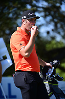 Jon Rahm (ESP) slams a hard boiled egg on the 10th tee  during round 2 of the World Golf Championships, Dell Technologies Match Play, Austin Country Club, Austin, Texas, USA. 3/23/2017.<br /> Picture: Golffile | Ken Murray<br /> <br /> <br /> All photo usage must carry mandatory copyright credit (&copy; Golffile | Ken Murray)