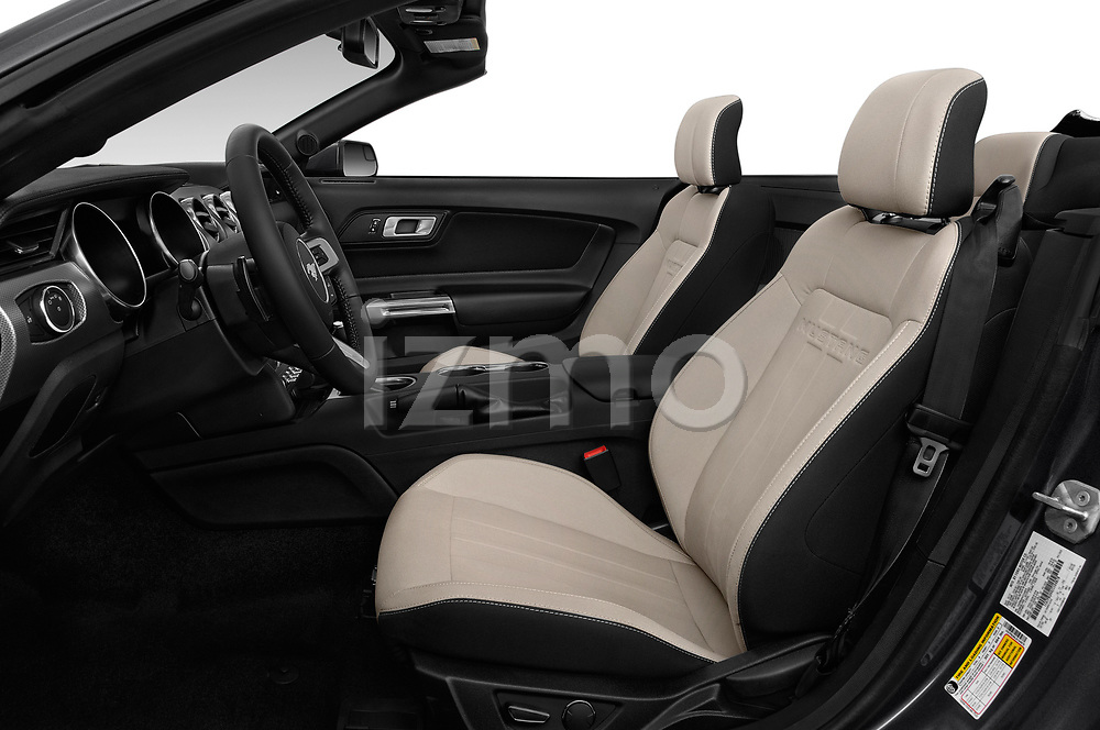 Front seat view of a 2018 Ford Mustang EcoBoost 2 Door Convertible front seat car photos