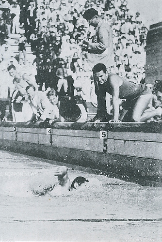 Kusuo Kitamura (JPN), 1932 - Swimming : Kusuo Kitamura of Japan competes during the Men's 1500m Fresstyle event at the 1932 Olympic Games in Los Angeles, California. (Photo by Kingendai Photo Library/AFLO)[2373]