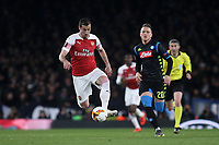 Henrikh Mkhitaryan of Arsenal in action during Arsenal vs Napoli, UEFA Europa League Football at the Emirates Stadium on 11th April 2019