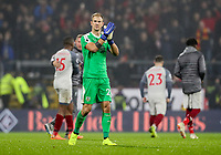 Burnley's Joe Hart applauds the home fans at the end of the match<br /> <br /> Photographer Andrew Kearns/CameraSport<br /> <br /> The Premier League - Burnley v Liverpool - Wednesday 5th December 2018 - Turf Moor - Burnley<br /> <br /> World Copyright &copy; 2018 CameraSport. All rights reserved. 43 Linden Ave. Countesthorpe. Leicester. England. LE8 5PG - Tel: +44 (0) 116 277 4147 - admin@camerasport.com - www.camerasport.com