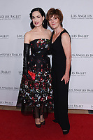 April 11, 2019 - Beverly Hills, California - Dita Von Teese and Julie Whittaker. Los Angeles Ballet Gala 2019 held at The Beverly Hilton Hotel. Photo Credit: Billy Bennight/AdMedia