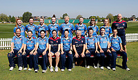 Kent ladies pose for a team photo during the Women's Royal London County Championship game between Kent ladies and Lancashire ladies at the County Ground, Beckenham, on May 7, 2018