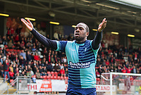 Myles Weston of Wycombe Wanderers celebrates his goal during the Sky Bet League 2 match between Leyton Orient and Wycombe Wanderers at the Matchroom Stadium, London, England on 1 April 2017. Photo by Andy Rowland.