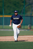 Jacques Gillespie Taylor (67), from Afton, Tennessee, while playing for the Padres during the Baseball Factory Pirate City Christmas Camp & Tournament on December 28, 2017 at Pirate City in Bradenton, Florida.  (Mike Janes/Four Seam Images)