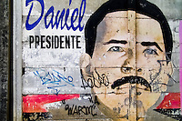 A mural, showing the portrait of Daniel Ortega, the President of Nicaragua and the leader of Sandinistas, appears on the wall in Managua, Nicaragua, 3 November 2004. The Sandinista National Liberation Front (in Spanish: Frente Sandinista de Liberación Nacional, or FSLN) is a socialist political party in Nicaragua. The FSLN is one of Nicaragua's two leading parties. Sandinistas took their name from Augusto César Sandino (1895-1934), the historical leader of Nicaragua's nationalist rebellion against the US occupation of the country in the 1930s. In 1979 the FSLN overthrew the Somoza dynasty and ruled Nicaragua from 1979 to 1990. They left power in 1990 after free elections. In 2006, the former President Daniel Ortega, the leader of the party, was re-elected President of Nicaragua.