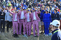 Fans during Saturday's Foursomes Matches at the 2018 Ryder Cup 2018, Le Golf National, Ile-de-France, France. 29/09/2018.<br /> Picture Eoin Clarke / Golffile.ie<br /> <br /> All photo usage must carry mandatory copyright credit (© Golffile | Eoin Clarke)