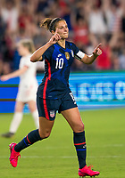 5th March 2020, Orlando, Florida, USA;  the United States forward Carli Lloyd (10) celebrates scoring her goal during the Women's SheBelieves Cup soccer match between the USA and England on March 5, 2020 at Exploria Stadium in Orlando, FL.
