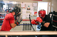 GLENOLDEN, PA - SEPTEMBER 8 : Lenny Dykstra training for Celebrity Boxing 69 against Angry Bagel guy at Delco Boxing Academy in Glenolden, Pa September 8, 2019 <br /> CAP/MPI09<br /> ©MPI09/Capital Pictures