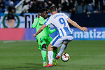 CD Leganes's Guido Marcelo Carrillo and Levante UD's Moses Daddy-Ajala during La Liga match between CD Leganes and Levante UD at Butarque Stadium in Leganes, Spain. March 04, 2019. (ALTERPHOTOS/A. Perez Meca)