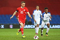 Marley Watkins of Wales during the International Friendly match between Wales and Panama at The Cardiff City Stadium, Wales, UK. Tuesday 14 November 2017
