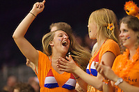 September 14, 2014, Netherlands, Amsterdam, Ziggo Dome, Davis Cup Netherlands-Croatia, Dutch supporters<br /> Photo: Tennisimages/Henk Koster