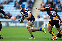 Zach Mercer of Bath Rugby in possession. Heineken Champions Cup match, between Wasps and Bath Rugby on October 20, 2018 at the Ricoh Arena in Coventry, England. Photo by: Patrick Khachfe / Onside Images