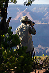 PROFESSIONAL PHOTOGRAPHER TAKES a PHOTO of GRAND CANYON<br />             ****<br /> Grand Canyon National Park is the United States' 15th oldest national park. Named a UNESCO World Heritage Site in 1979