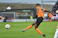Wesley Fonguck Of Barnet shoots during Barnet vs Stockport County, Emirates FA Cup Football at the Hive Stadium on 2nd December 2018