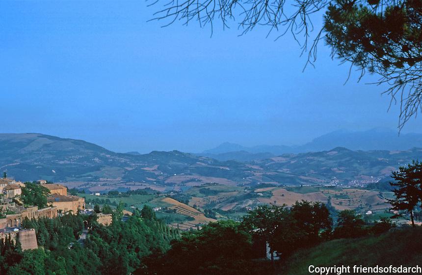 Urbino: 2.  Town Panorama.  Photo '83.