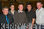 Night Out - Having a ball at the Annual Ardfert GAA Buffet Diner in The Ballyroe Heights Hotel on Saturday night were l/r Darren Delaney, Rory Horgan, T.J. Stack, John Galvin and Jerry Wallace............................................................................................................................... ............