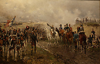 Part of the Ben Weider's collection on Napoleon at Montreal Museum of Fine Arts.<br /> <br /> <br /> Napoleon's Last Grand Attack (Le Dernier Assault) : Waterloo 1895 by Ernest Croft<br /> <br /> Photo : Pierre Roussel - Agence Quebec Presse<br /> <br /> <br /> <br /> <br /> <br /> <br /> <br /> <br /> <br /> <br /> <br /> .
